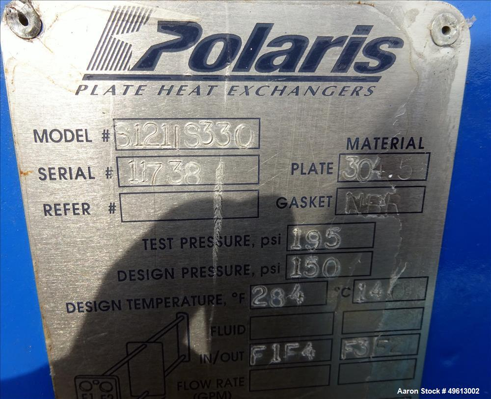 Used- Polaris Plate Heat Exchanger, Stainless Steel