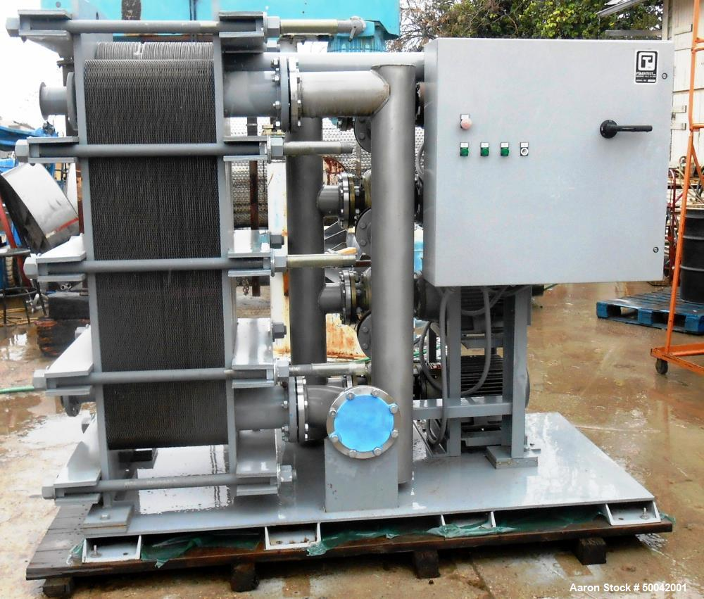 Unused- Heat Exchanger and Pump Skid. Containing (1) Tranter SuperChanger Plate