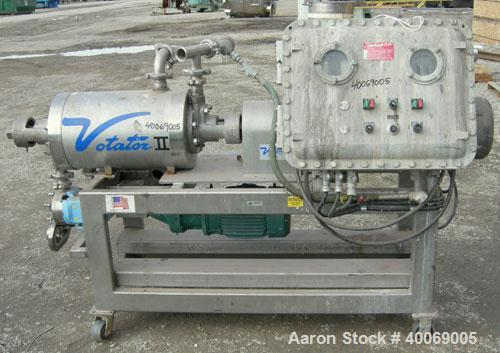 Used: Stainless Steel Cherry Burrell Votator Scraped Surface Heat Exchanger