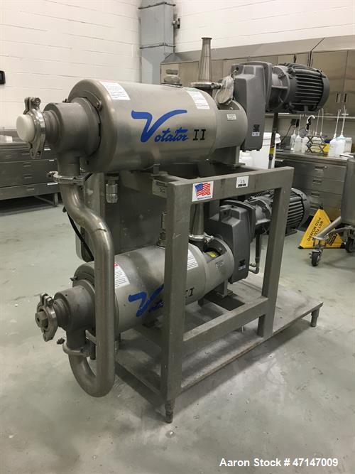 Unused Waukesha Cherry-Burrell Votator II 624 Twin Tube Heat Exchanger