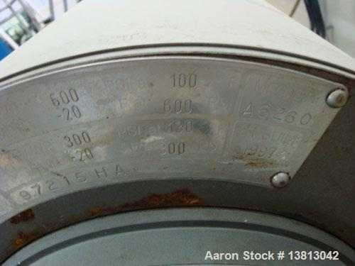 """Used-Waukesha-Cherry Burrell Model A6260 stainless steel votator mixer with 2"""" inlet and outlet. 20 hp SEW motor."""