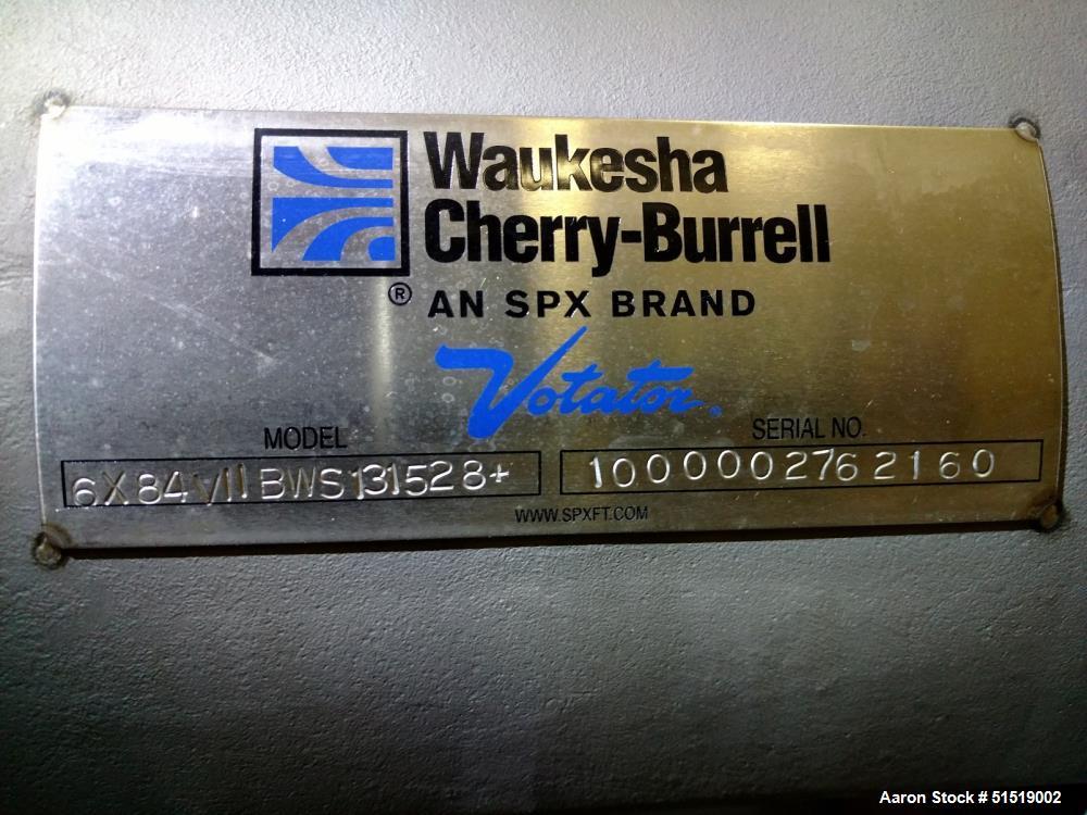 """Used- Waukesha Cherry Burrell SPX 6"""" x 84"""" Votator II Scraped Surface Heat Excha"""