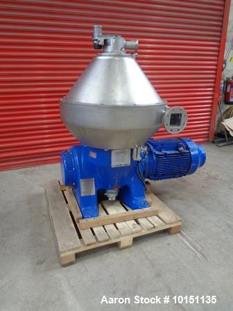 Used-Approximately 100 Square Foot Hastelloy Heat Exchanger rated 300 psi tube side, shell rated 150 psi.Lethal service tube...