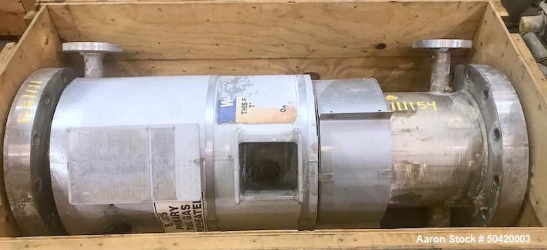 Used- Ellett Industries Shell & Tube Heat Exchanger, 85 Square Foot