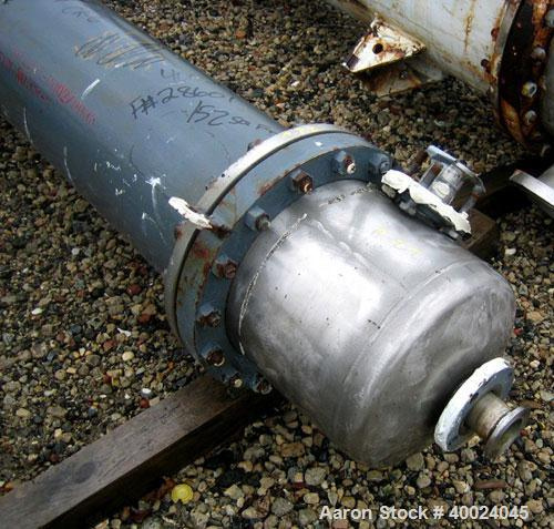Used- Atlas Shell and Tube Heat Exchanger, approximatelly 152 square feet, vertical, type BEM14-81. Carbon steel shell rated...