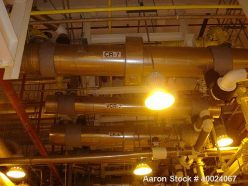 Used- Atlas Single Pass Shell And Tube Heat Exchanger, 102 square feet, horizontal. Type BEM10-120. Carbon steel shell rated...