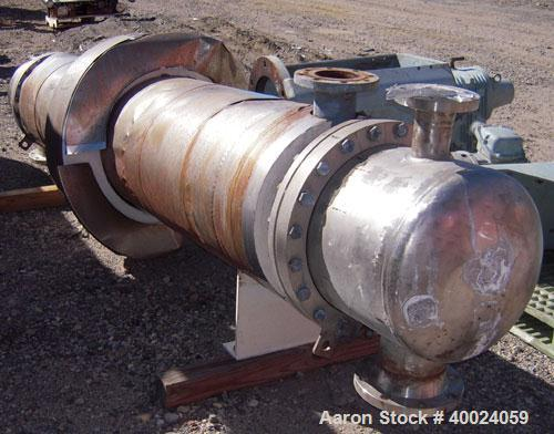 Used- Atlas Single Pass Shell And Tube Heat Exchanger, 399 square feet, horizontal. Type BEM18-120. Carbon steel shell rated...