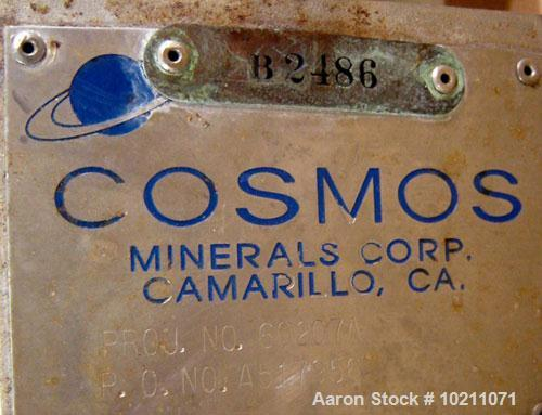 Used-Cosmos Minerals Condenser, 43 Square Feet. 304 L stainless steel shell side. Tubes are Tantalum. Shell MAWP 150/FV @ 35...