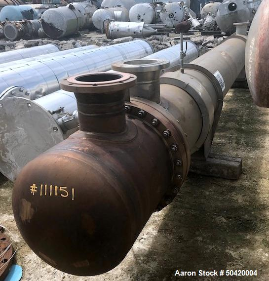 Used- Ellett Industries Shell & Tube Heat Exchanger, 930 Square Foot