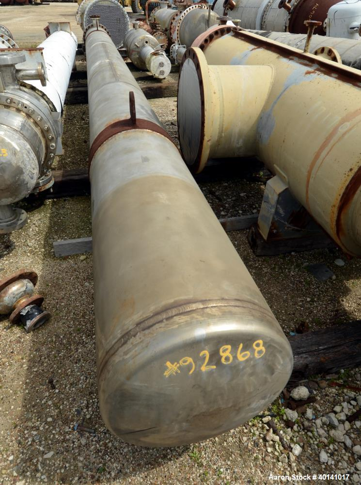 Used- HorizontalEnerquip 2 Pass Shell And Tube Heat Exchanger, 350 Square Feet