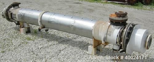 Used- Futura Titanium Corporation Single Pass Shell and Tube Heat Exchanger, 319 Square Feet, Horizontal. Type BEM 14-2-144....