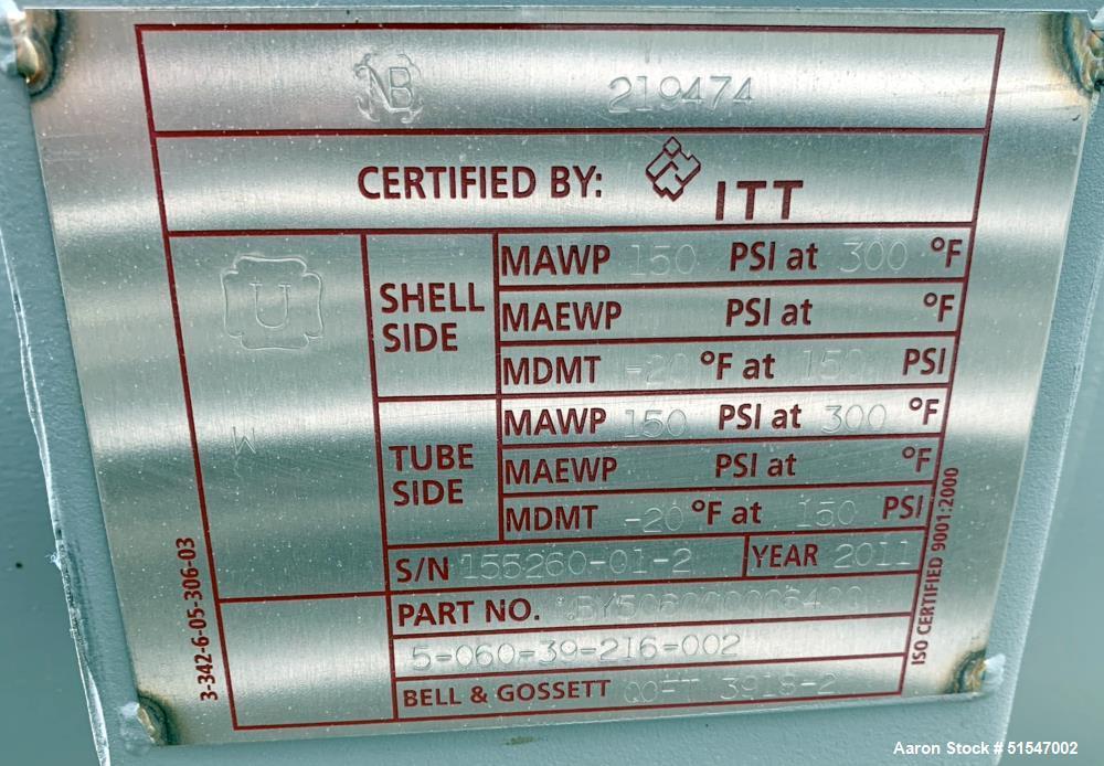 Unused- Multiple Pass Copper/Nickel Tube Heat Exchanger