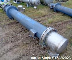 Used- Atlas Shell & Tube Heat Exchanger, Approximate 255 Square Feet (23.7 Square Meter). Carbon steel shell approximate 400...