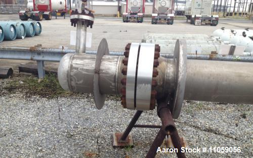 """Unused - Inconel 600 (high nickel) Shell and Tube Heat Exchanger, Approximately 500 Square Foot (105) 3/4""""OD x 24' Length Tube"""