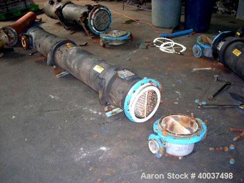 """Used- CMS U Tube Heat Exchanger, 93 square feet, Hastelloy C22 tubes, tube sheet and bonnet with (68) 3/4"""" diameter x 7' lon..."""
