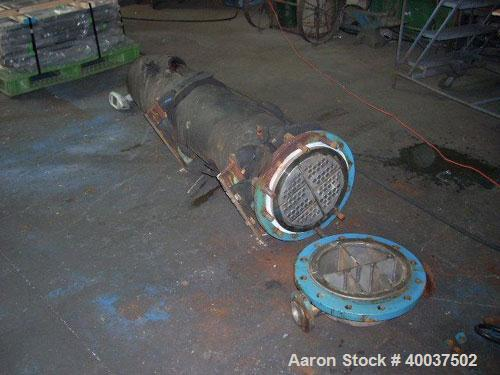 Used- CMS U Tube Heat Exchanger with Hastelloy C22 tubes, 65 sqare feet