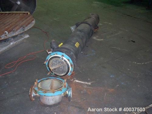 """Used- CMS U Tube Heat Exchanger, 93 square feet, Hastelloy C22 tubes. Tube sheet and bonnet with (68) 3/4"""" diameter x 7' lon..."""