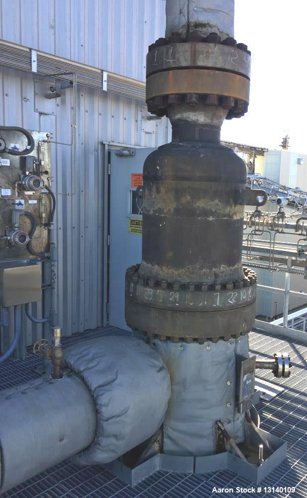 Used- SteelTek Inc. Inconel 600 Vertical Shell and Tube Heat Exchanger