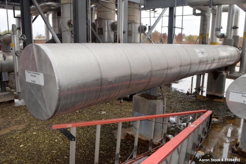 Used- Huffman U Tube Shell & Tube Heat Exchanger, Approximate 555 Square Feet, Model AFU-15-252, Horizontal. Carbon steel sh...