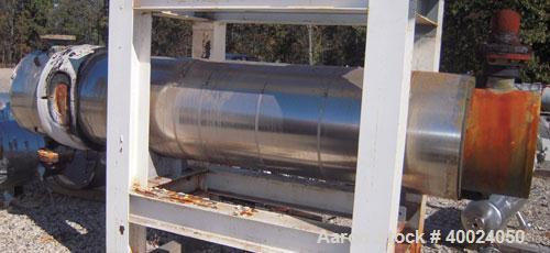 Used- Atlas U tube Heat Exchanger, approximately 133 square feet, horizontal. Carbon steel shell rated 150 psi at 300 deg F,...