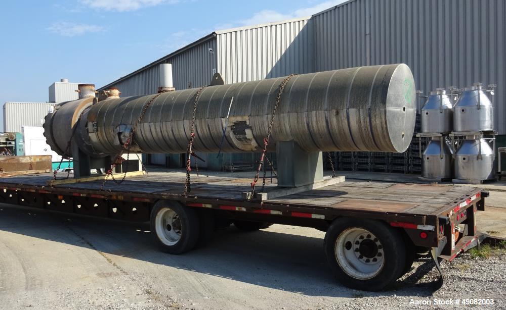 Used- Cust-O-Fab U Tube Shell & Tube Heat Exchanger, Approximate 3150 Square Fee