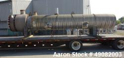Used- Cust-O-Fab U Tube Shell & Tube Heat Exchanger, Approximate 3150 Square Fee