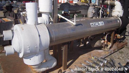 Used- CMS Shell and Tube Heat Exchanger, approximately 241 square feet, horizontal. Carbon steel shell rated 60 psi at 300 d...