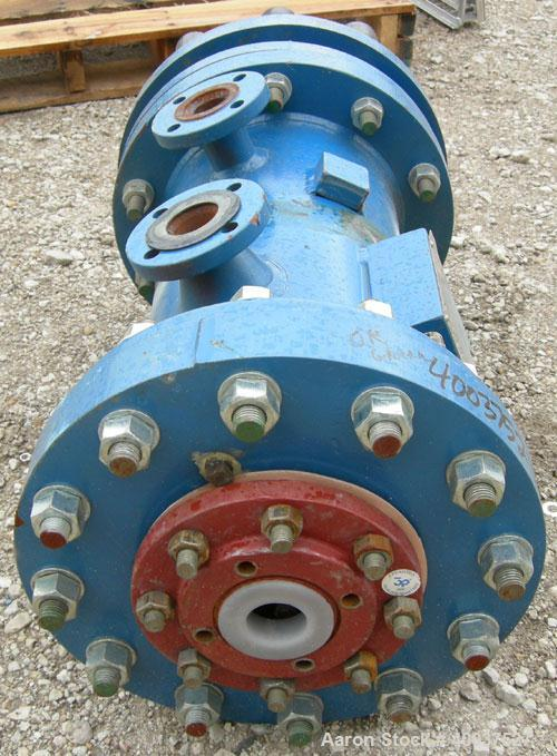 Used- SGL Carbon Group Cylidrical Block Graphite Heat Exchanger. Approximately 25 square feet, vertical. Model CK2. Service ...