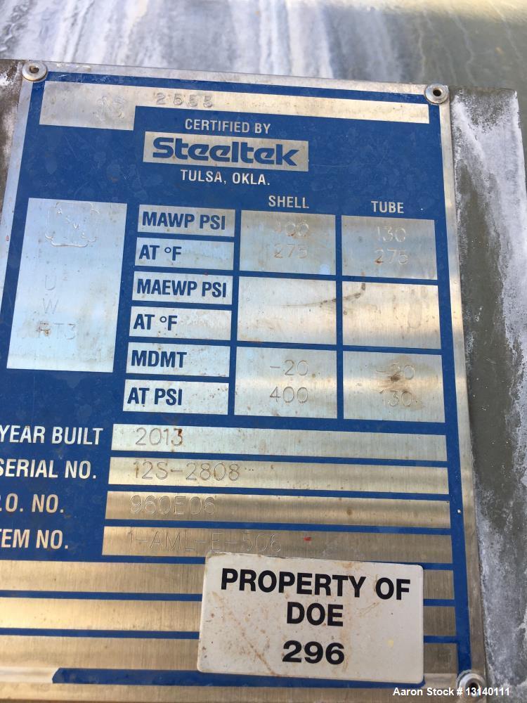 Used- SteelTek Inc. Shell and Tube Heat Exchanger