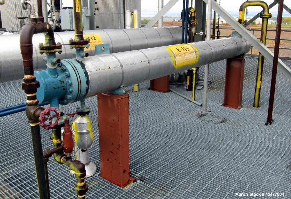 Used- Yula U-Tube Shell and Tube Heat Exchanger, Approximately 68 Square Feet
