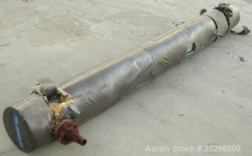 Used- KAM Thermal U-Tube Heat Exchanger, 70 square feet, horizontal. Carbon steel shell rated 200 psi at 400 deg.f., (36) 3/...