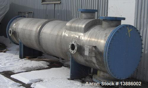 Unused-Ahlstrom Heat Exchanger, tubular, stainless steel 304 (2333), surface 2691 square feet (250 m2), length 16.4' (5000 m...