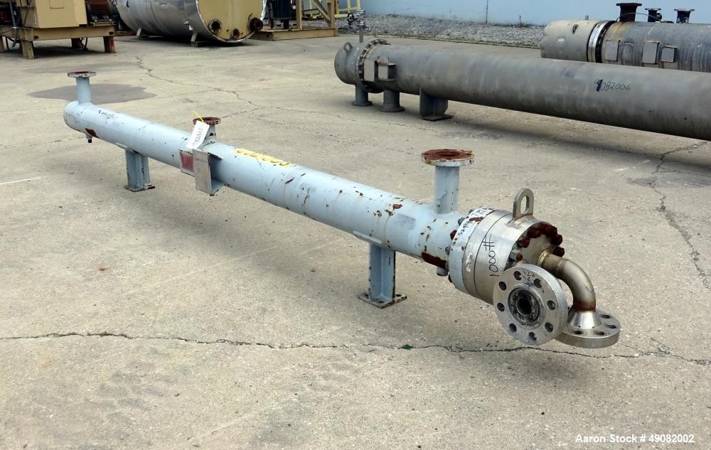 Used- Cust-O-Fab U Tube Shell & Tube Heat Exchanger, Approximate 105 Square Feet