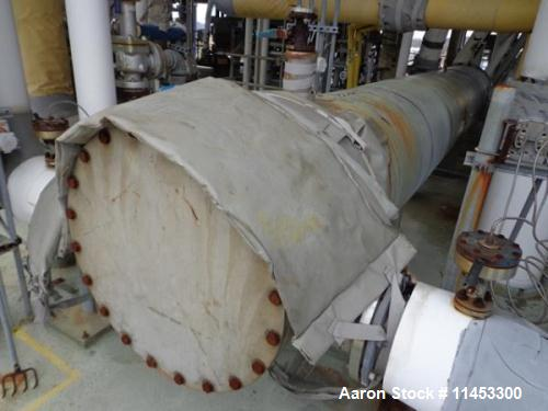 Used- Doyle and Roth Shell and Tube Heat Exchanger, 1,427 sq. ft. 304 stainless stell shell, tubes, tube sheets and bonnets,...