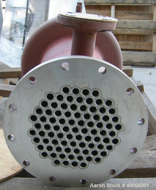 Unused:  Doyle and Roth Shell and Tube Heat Exchanger, 66  Square Feet, Horizontal.  Carbon steel shell  rated 100 psi @ 350...