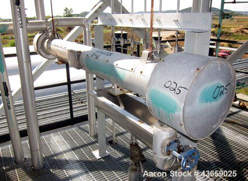 Used- Stainless Steel Horizontal Enerquip Shell & Tube Heat Exchanger, Approximately 23.5 Square Feet