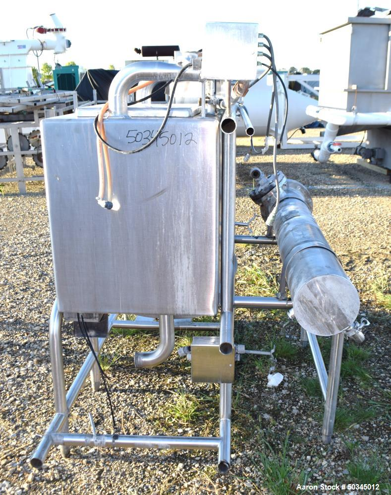 "Used- Enerquip ""U"" Tube Heat Exchanger, Approximately 43 Square Feet, Horizontal"
