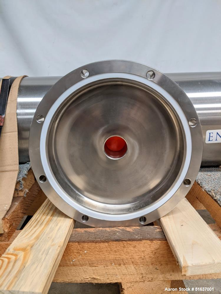 Unused- Enerquip Shell & Tube Heat Exchanger, Stainless Steel, Vertical. Approximate 132 square feet. 304L Stainless steel s...