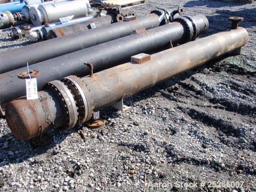 """Used- Kam Thermal 4 Pass U Tube Heat Exchanger, 194 Square Feet. 304 stainless steel tubes and tube sheets with (104) 3/4"""" d..."""