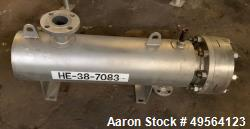 Used- Allehgeny Bradford Shell and Tube Heat Exchanger, 14 Square Feet, U Tube Design. 316L Stainless steel tubes, tube shee...