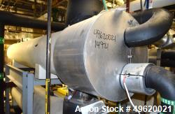 Used- Doyle & Roth U Tube Shell & Tube Heat Exchanger, 375 Square Feet, Horizontal. 304L Stainless steel shell rated 150 psi...