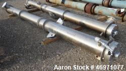 Used- Enerquip Single Shell & Tube Heat Exchanger, 573 Square Feet, Model BEMV, 304L Stainless Steel, Vertical. 304L Stainle...