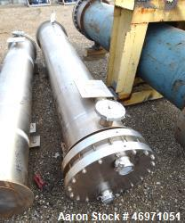 Used- Enerquip U Tube Shell & Tube Heat Exchanger, Approximately 800 Square Feet, Model BEUH, Stainless Steel, Horizontal. 3...