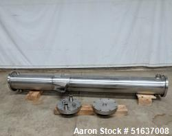 Used- Enerquip Shell & Tube Heat Exchanger, Stainless Steel, Vertical. Approximate 109 square feet. 304L Stainless steel she...