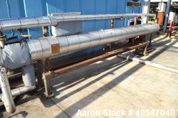 Used- Mueller U Tube Shell & Tube Heat Exchanger, 175 Square Feet, Horizontal. 304 Stainless steel shell rated 150 psi at 50...