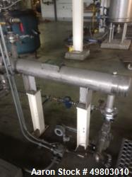 Used- Perry Products U Tube Shell & Tube Heat Exchanger, 16 Square Feet, Model UTSSMX-6-16, 316L Stainless Steel. Shell & tu...