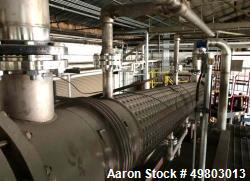 Used- Perry Products Shell & Tube Heat Exchanger, 623 Square Feet, Horizontal. 316L Stainless steel shell with a 304 stainle...