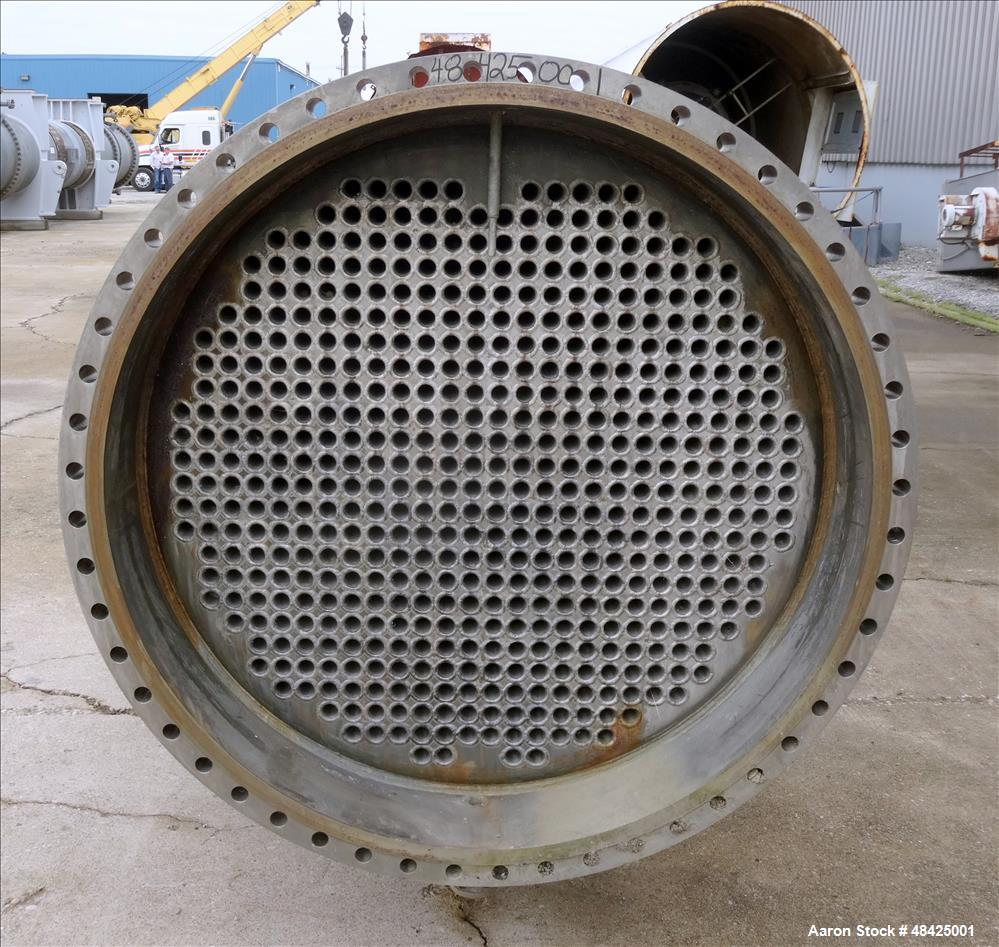 Used- Southern Heat Shell & Tube Exchanger, Approximate 4,372 Square Feet, Horiz