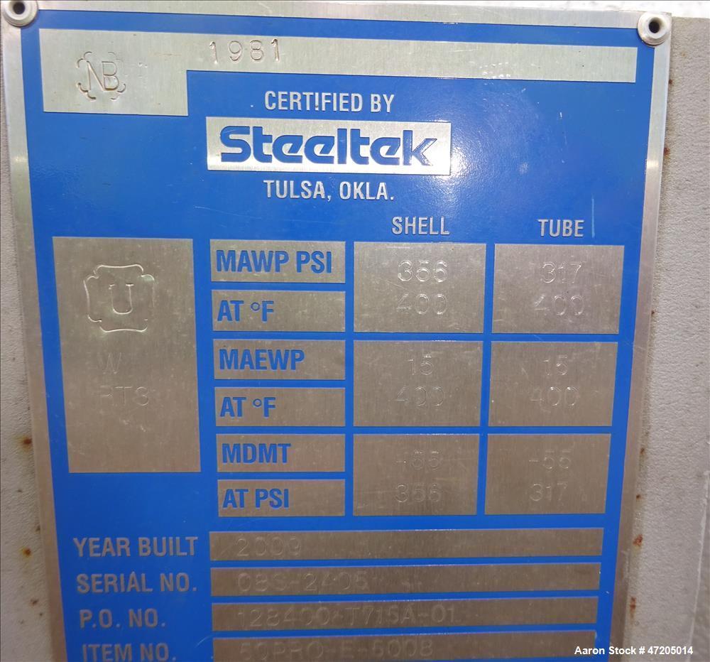 """Unused- Steeltek """"U"""" Tube Heat Exchanger, Approximate 1,355 Square Foot, Type BK"""