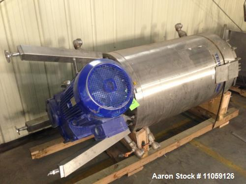 Used- 47 Square Foot(4.4 M2) Terlet Terlotherm Model T2-6 Scraped Surface Heat Exchanger, Wiped Film. 316L Stainless steel s...
